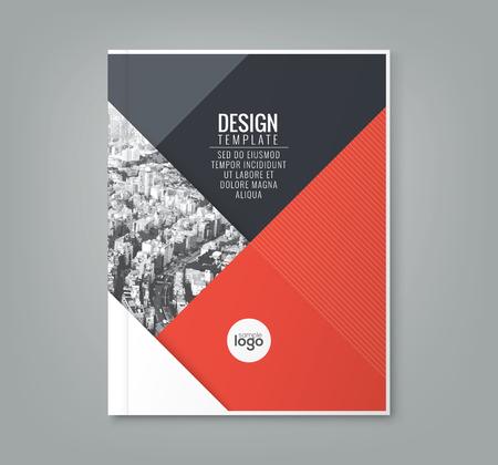 minimale eenvoudige rode kleur ontwerpsjabloon achtergrond voor zakelijke jaarlijkse verslag boekomslag brochure poster Stock Illustratie