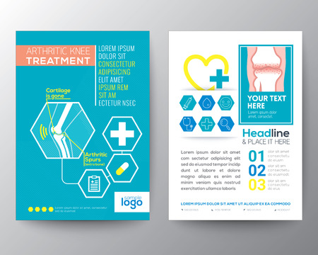 arthritic: Arthritic Knee Treatment Health Care and Medical Poster Brochure design Layout  template in A4 size