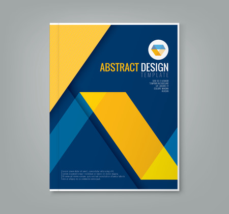 yellow line: abstract yellow line design on blue background template for business annual report book cover brochure poster Illustration