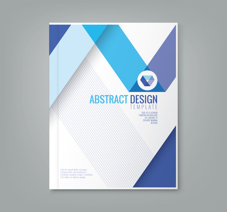 prospectus: abstract blue line design background template for business annual report book cover brochure flyer poster