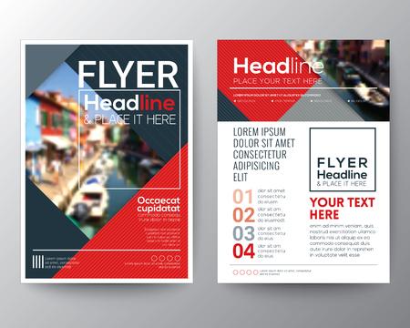 zakelijke brochure flyer ontwerp lay-out sjabloon met wazige achtergrond