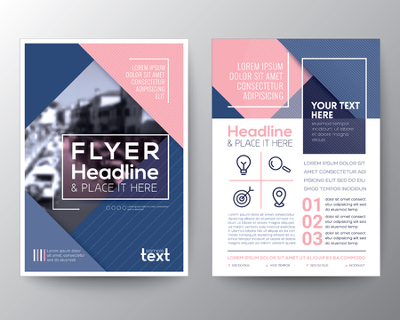 a4: Brochure design Layout template in A4 size Illustration