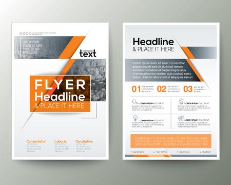 Modelo de vetor de layout de design de folheto folheto Flyer em tamanho A4 Ilustración de vector