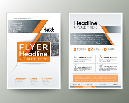 Poster Brochure Flyer ontwerp Layout vector sjabloon in A4-formaat Stock Illustratie