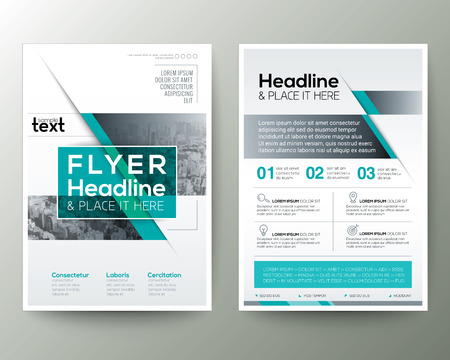 Poster Brochure Flyer design Layout vector template in A4 size Reklamní fotografie - 57271777