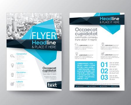 Abstracte lage veelhoek achtergrond voor Poster Brochure Flyer ontwerp lay-out vector sjabloon in A4-formaat Stock Illustratie