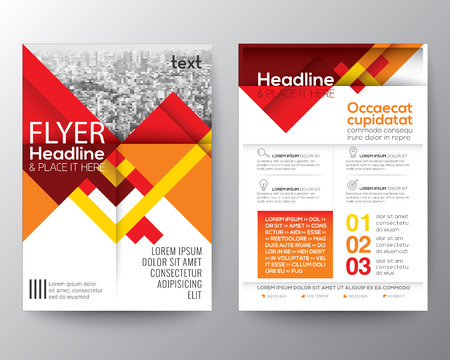 Abstract red geometric background for Poster Brochure design Layout template in A4 size