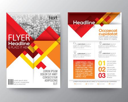 Abstracte rode geometrische achtergrond voor Poster Brochure ontwerpsjabloon lay-out in A4-formaat