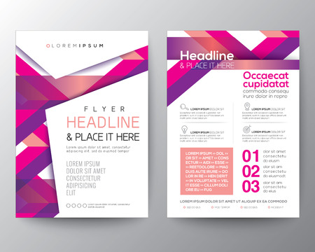 banding: Abstract pink magenta background for Poster Brochure Flyer design Layout vector template in A4 size