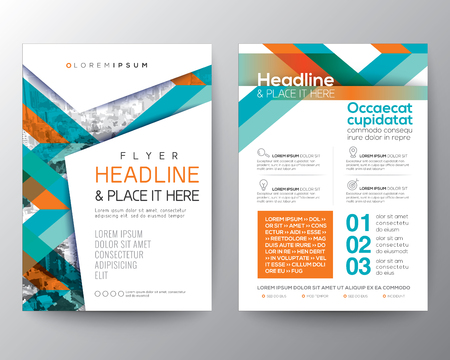 Abstract shape background for Poster Brochure Flyer design Layout vector template in A4 size
