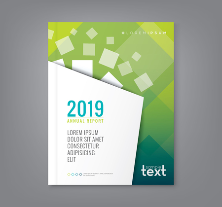 prospectus: Abstract shape design on green background for business annual report book cover brochure poster