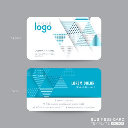 namecard: Blue Triangle modern business card design