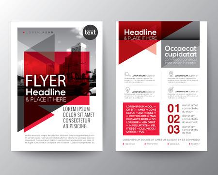 Abstracte rode geometrische achtergrond voor Poster Brochure Flyer ontwerp lay-out vector template Stock Illustratie