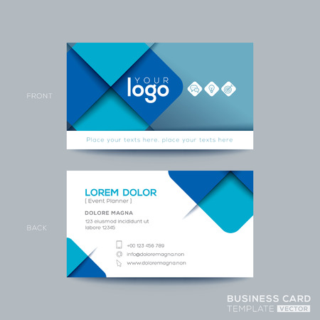 Clean and simple blue business card namecard design