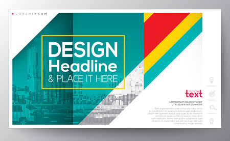 banding: Green diagonal banding line modern graphic design Layout vector template, 16:9 ratio