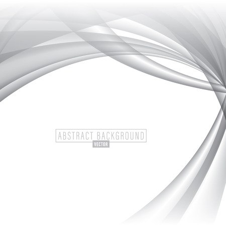 abstract white: White abstract dynamic grey waves background Illustration