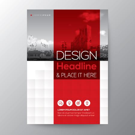 Rode streep grafische achtergrond voor Brochure jaarverslag dekking Flyer Poster ontwerp Lay-out vector sjabloon in A4-formaat