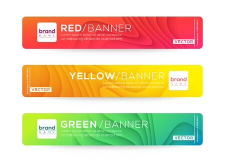 Abstract web banner or header design templates. Curved wave gradient background composition with colorful vivid colors.