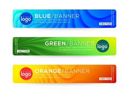 Abstract web banner or header design templates. gradient background composition with colorful bright colors.