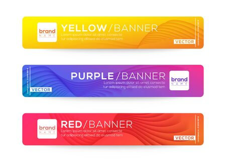 Abstract web banner or header design templates. gradient background composition with colorful vivid colors.