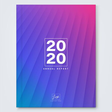 Abstract gradient magenta blue minimal background for business annual report, book cover, brochure, flyer, poster. Ilustrace