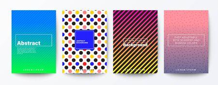 Set of pattern background for Brochure, Flyer, Poster, leaflet, Report, Book cover, Banner, Presentation, Website, wallpaper.