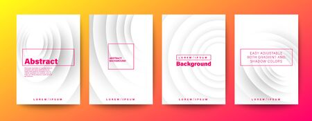 Set of minimal abstract circle wave on white background for Brochure, Flyer, Poster, leaflet, Annual report, Book cover, Graphic Design Layout template, A4 size.