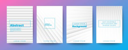 Set of minimal abstract diagonal line on white background for Brochure, Flyer, Poster, leaflet, Annual report, Book cover, Graphic Design Layout template, A4 size.
