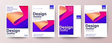 Set of Flyer, Poster, leaflet, Annual report cover, Book cover, Brochure, Banner. Graphic Design Layout template, A4 size