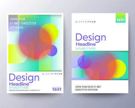 Flyer, Poster, leaflet Graphic Design Layout template with abstract vivid gradient colors background.