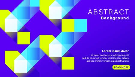 Abstract bright vivid blue square background. Landing page graphic background.