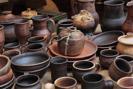 antiquities: exhibition of tableware early middle ages in the historical reconstruction