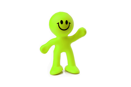 silicone: green silicone man