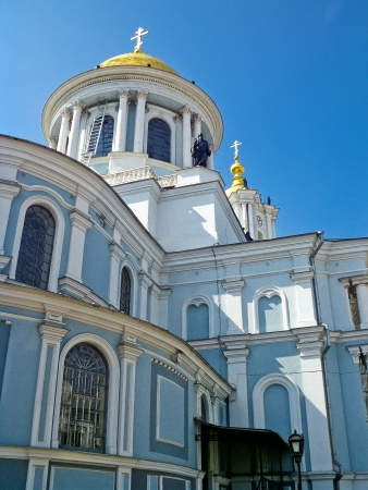 sumy: View of the Transfiguration Cathedral of the yard, Sumy, Ukraine