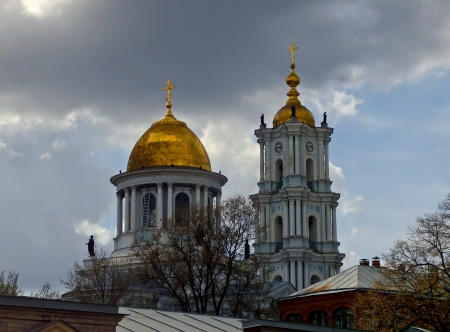 sumy: Holy Transfiguration Orthodox Cathedral is the main cathedral of the city of Sumy  It includes elements of various architectural styles  Stock Photo