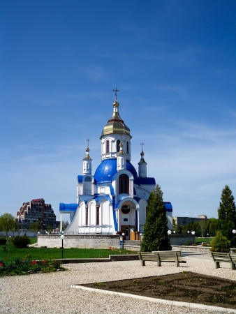 sumy: Church of St  Valentine, spring, Sumy, Ukraine Stock Photo