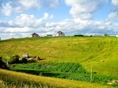 haymow: Countryside, summer, good weather, hills