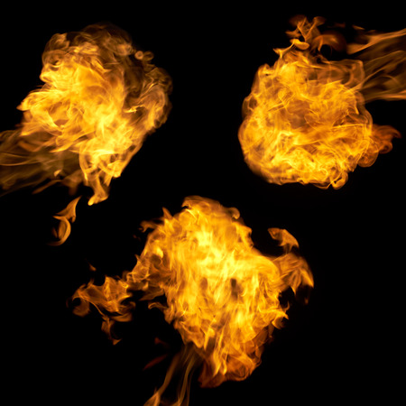 Different fire flames set