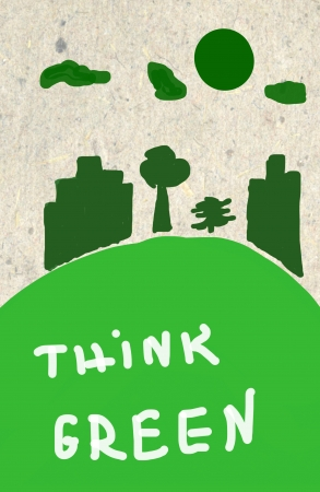 Eco Concept Theme - Hand Painted Illustration illustration