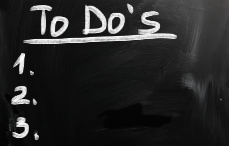 black chalkboard image with empty to do list
