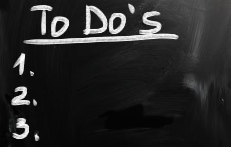 do: black chalkboard image with empty to do list