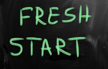 frisse start: nieuwe start