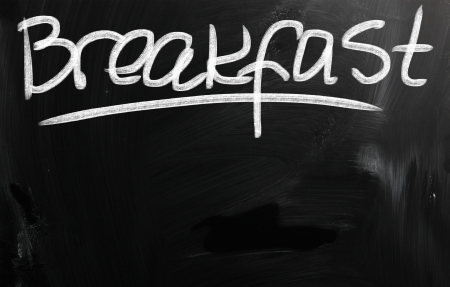 blankness: Breakfast Stock Photo
