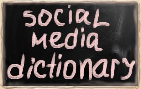 social media concept - text on a blackboard. Stock Photo - 20166699
