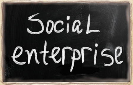social media concept - text on a blackboard. Stock Photo - 20166665