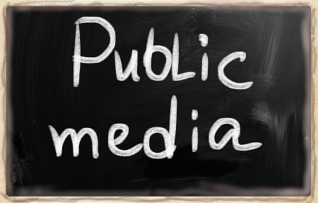 bookmarking: social media concept - text on a blackboard. Stock Photo