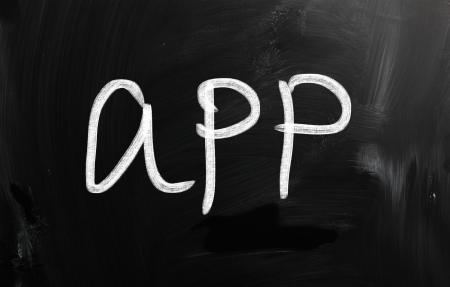 social media concept - text on a blackboard. Stock Photo - 20166597