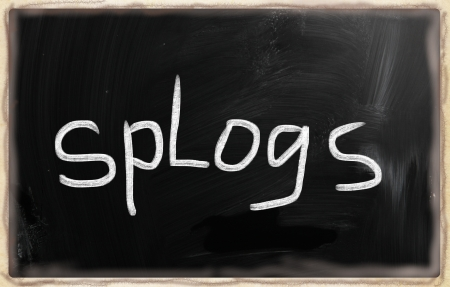 social media concept - text on a blackboard Stock Photo - 20331832