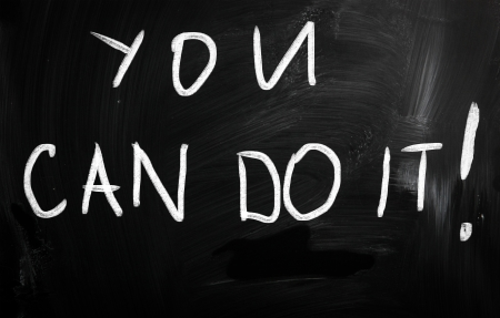 You can do it handwritten with white chalk on a blackboard photo