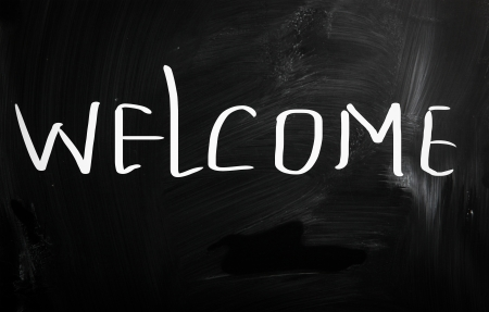 welcome sign: signe de bienvenue Banque d'images